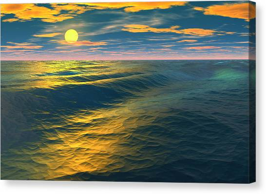 Road To Atlantis Canvas Print by David Jackson