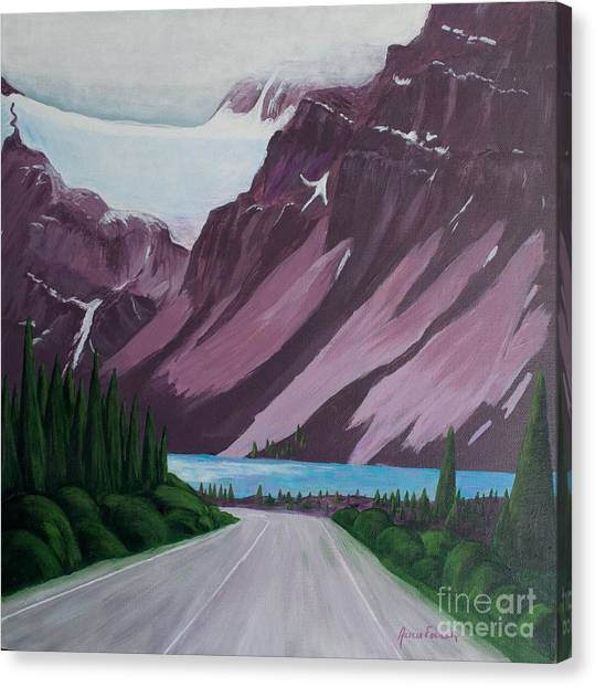 Road To Banff Canvas Print