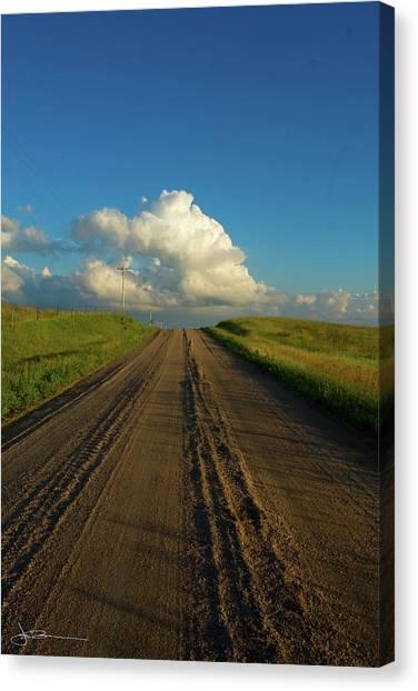 Road To Cumulus Canvas Print
