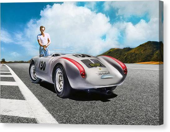 James Dean Canvas Print - Road To Eternity by Peter Chilelli