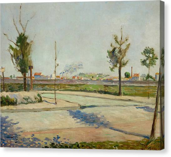 Divisionism Canvas Print - Road To Gennevilliers by Paul Signac