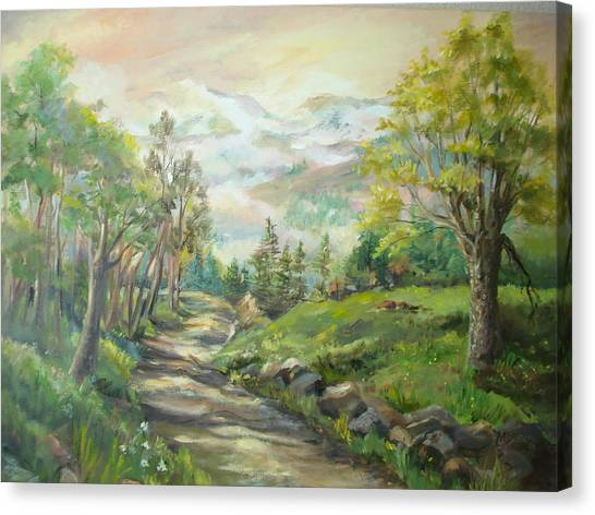 Road To Grandfather Mountain Canvas Print by Marilyn Masters