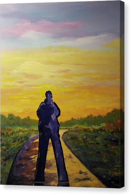 Canvas Print featuring the painting Road To Heaven by Ray Khalife