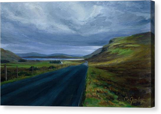 Road To Lough Barra Donegal Canvas Print