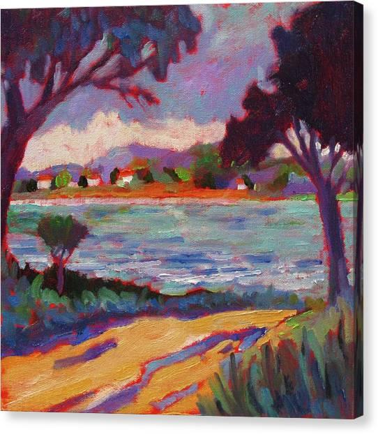 Road To Mediterranean Canvas Print by Laurelle Cidoncha