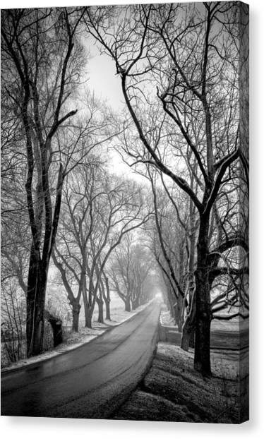 Canvas Print featuring the photograph Road To Meems Bottom Bridge by Williams-Cairns Photography LLC