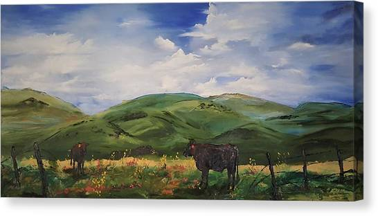 Road To Melrose, Montana         32 Canvas Print
