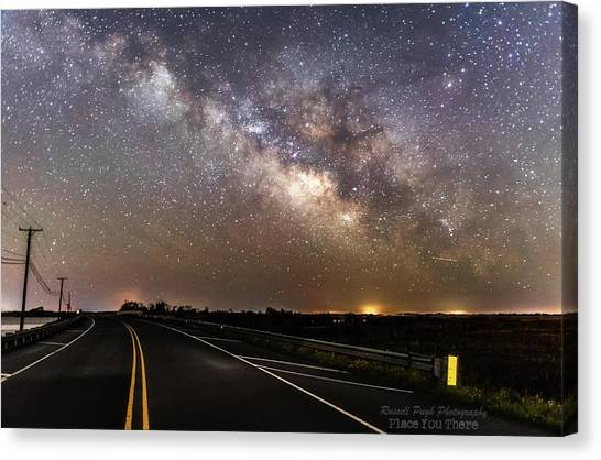 Road To Milky Way Canvas Print