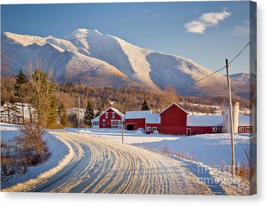 Road To Mount Mansfield Canvas Print