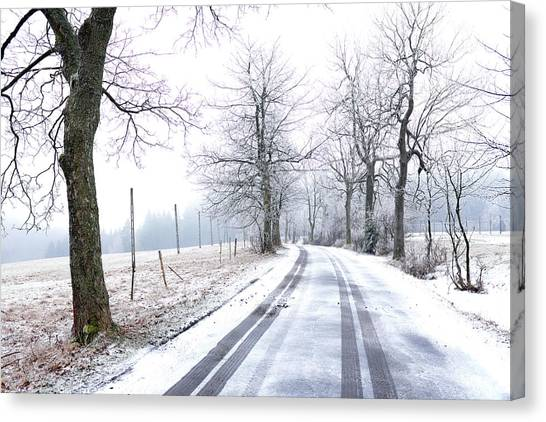 Canvas Print featuring the photograph Road To Nowhere  by Dubi Roman
