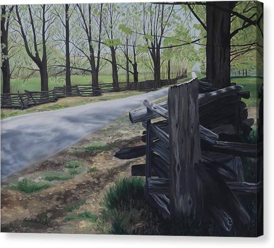 University Of Toledo Canvas Print - Road To Phillipsville by Phil Chadwick