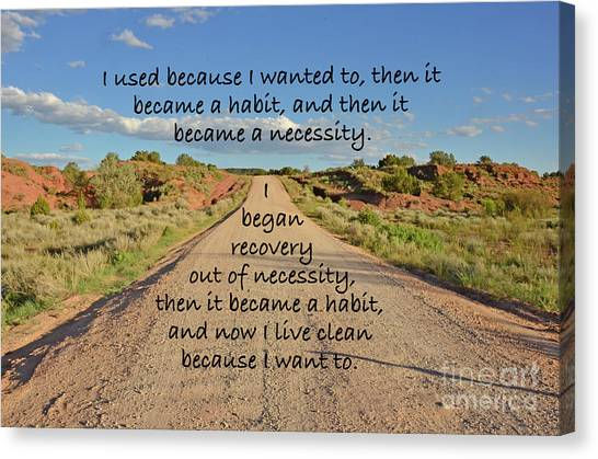 Road To Recovery Canvas Print