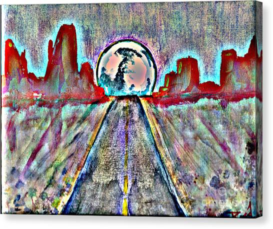 Canvas Print featuring the painting Road To Sedona 2 by Reed Novotny