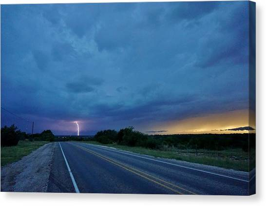 Lightning Over Sonora Canvas Print
