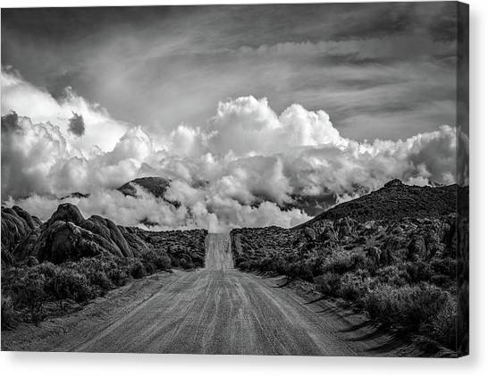 Black Rock Desert Canvas Print - Road To The Sky by Peter Tellone