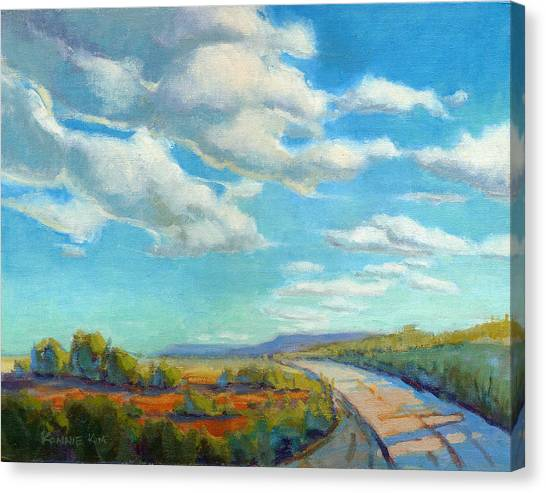 Canvas Print featuring the painting Road Trip 2 by Konnie Kim