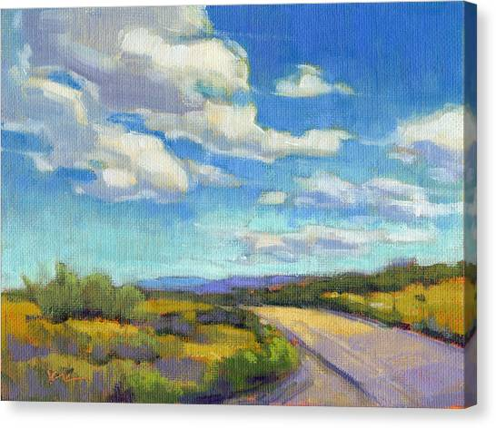 Canvas Print featuring the painting Road Trip - Study by Konnie Kim