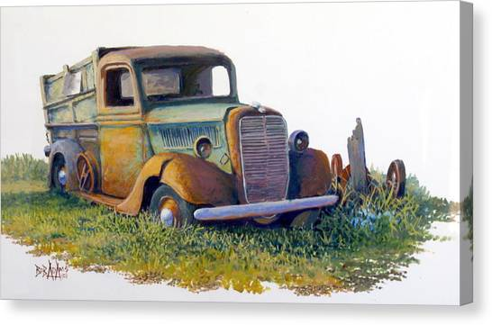 Road Warrior Retired Canvas Print by Bob  Adams