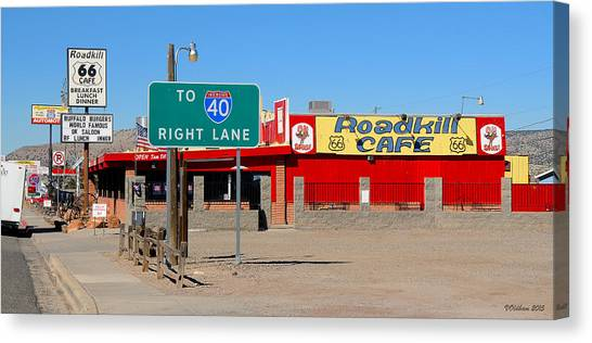 Roadkill Cafe, Route 66, Seligman Arizona Canvas Print