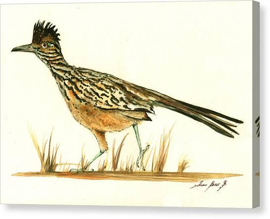 Roadrunner Canvas Print - Roadrunner Bird by Juan Bosco