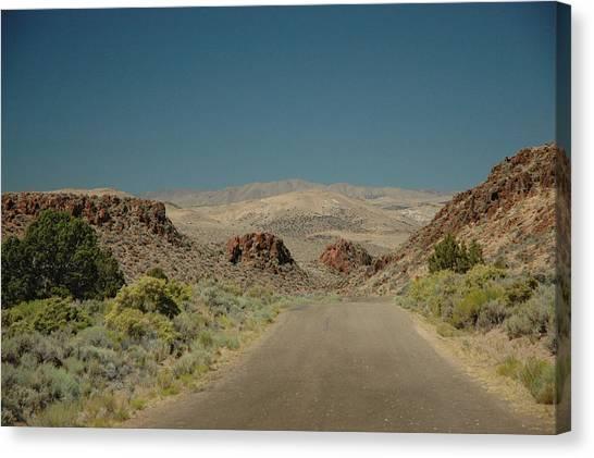 Roadway To Peace Canvas Print by Lori Mellen-Pagliaro