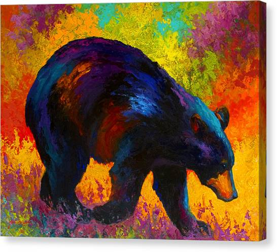 Alaska Canvas Print - Roaming - Black Bear by Marion Rose