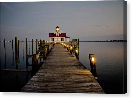 Roanoke Marshes Lighthouse Canvas Print