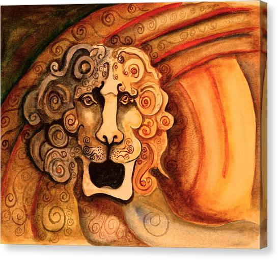 Roaring Lion  Canvas Print by Dan Earle