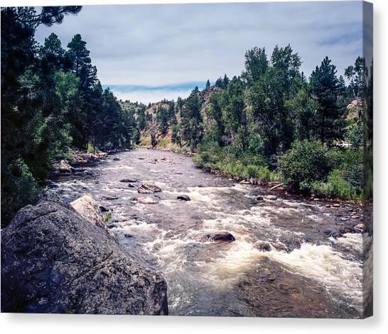Colorado Rapids Canvas Print - Roaring River With Rapids In Colorado by James Hendrix
