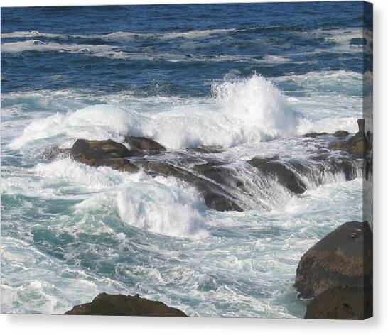 Roaring Water Canvas Print by Barb Morton