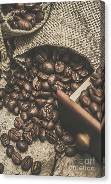 Textiles Canvas Print - Roasted Coffee Beans In Close-up  by Jorgo Photography - Wall Art Gallery