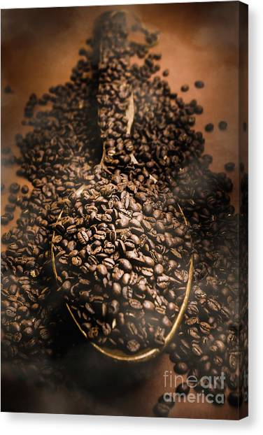 Meat Canvas Print - Roasting Coffee Bean Brew by Jorgo Photography - Wall Art Gallery