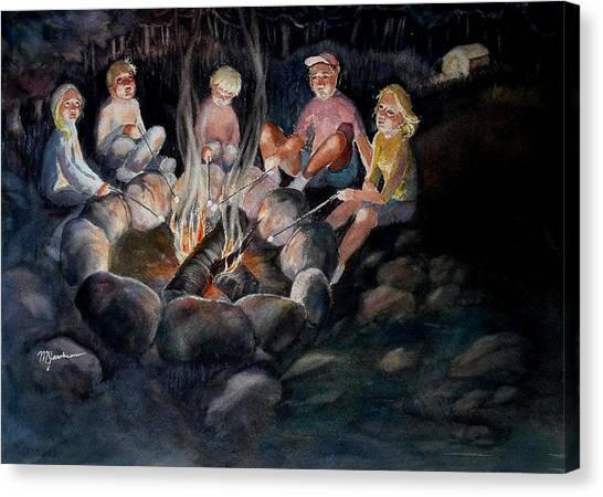 Roasting Marshmallows Canvas Print