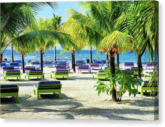 Roatan Island Resort Canvas Print