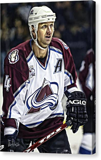 Los Angeles Kings Canvas Print - Rob Blake 1 by Don Olea