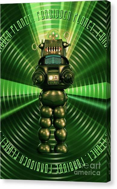 Forbidden Planet Canvas Print - Robbie The Robot - Forbidden Planet by Raphael Terra