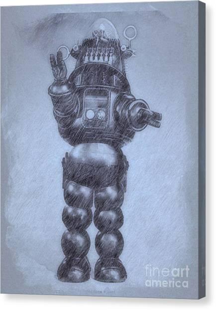 Forbidden Planet Canvas Print - Robbie The Robot From Forbidden Planet By John Springfield by John Springfield