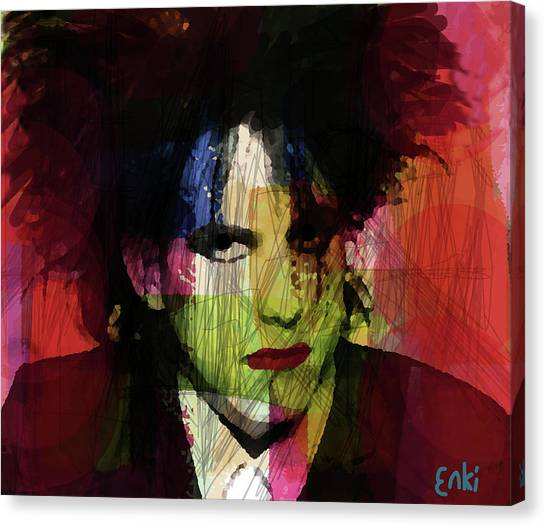 Paul Reed Smith Canvas Print - Rober Smith Of The Cure  by Enki Art