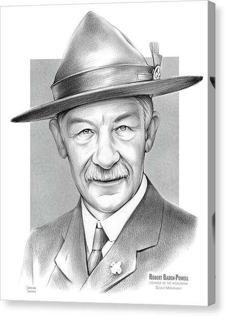 Boy Scouts Canvas Print - Robert Baden Powell by Greg Joens