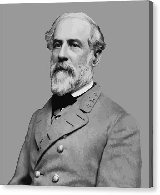 Confederate Army Canvas Print - Robert E Lee - Confederate General by War Is Hell Store