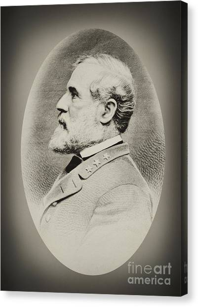 Robert E Lee - Csa Canvas Print
