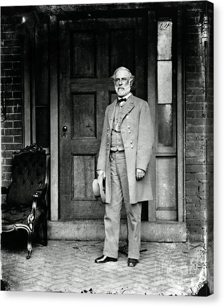 Notable Canvas Print - Robert E. Lee In Richmond, Virginia by Photo Researchers