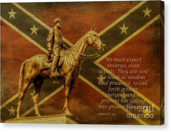Robert E Lee Inspirational Quote Canvas Print