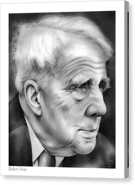 Vermont Canvas Print - Robert Frost by Greg Joens
