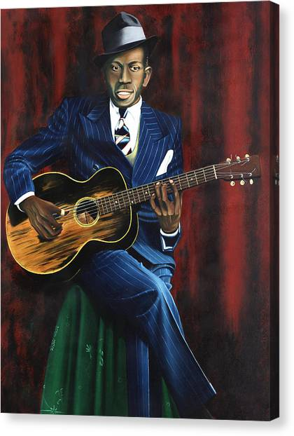 Slide Guitars Canvas Print - Robert Johnson by Rick Seguso