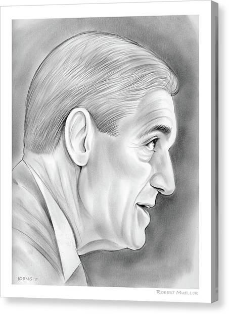 Fbi Canvas Print - Robert Mueller by Greg Joens