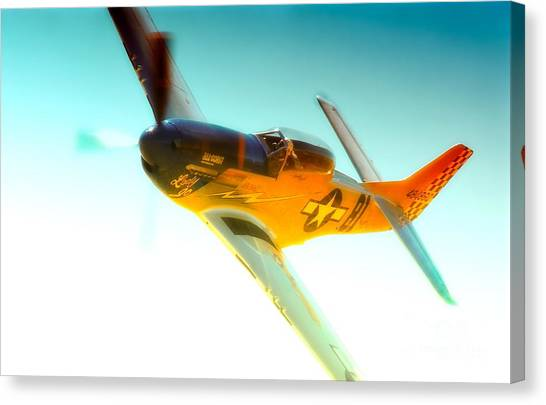 Robert Patterson And Tf-51d Mustang Lady Jo 2010 Reno Air Races Canvas Print