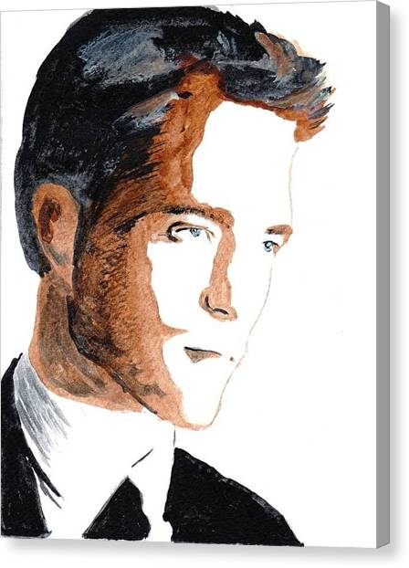 Robert Pattinson 18 Canvas Print by Audrey Pollitt