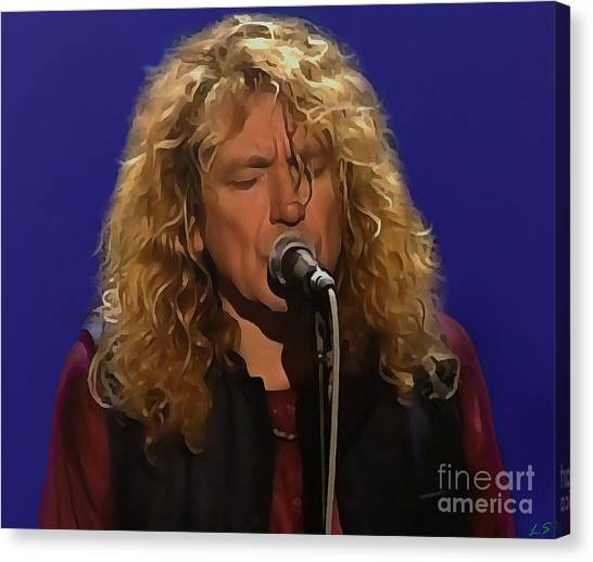 Jimmy Page Canvas Print - Robert Plant Collection - 4 by Sergey Lukashin