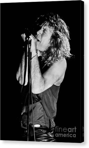 Jimmy Page Canvas Print - Robert Plant-0040 by Timothy Bischoff